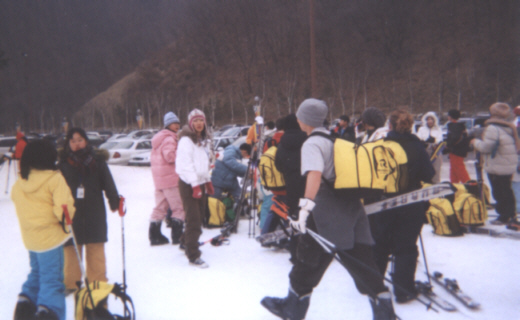 Pictures of English Camp Students at Korea ski resort