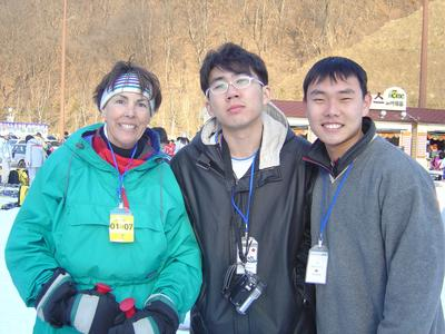 Pictures of Canadian and Korean English teachers at camp