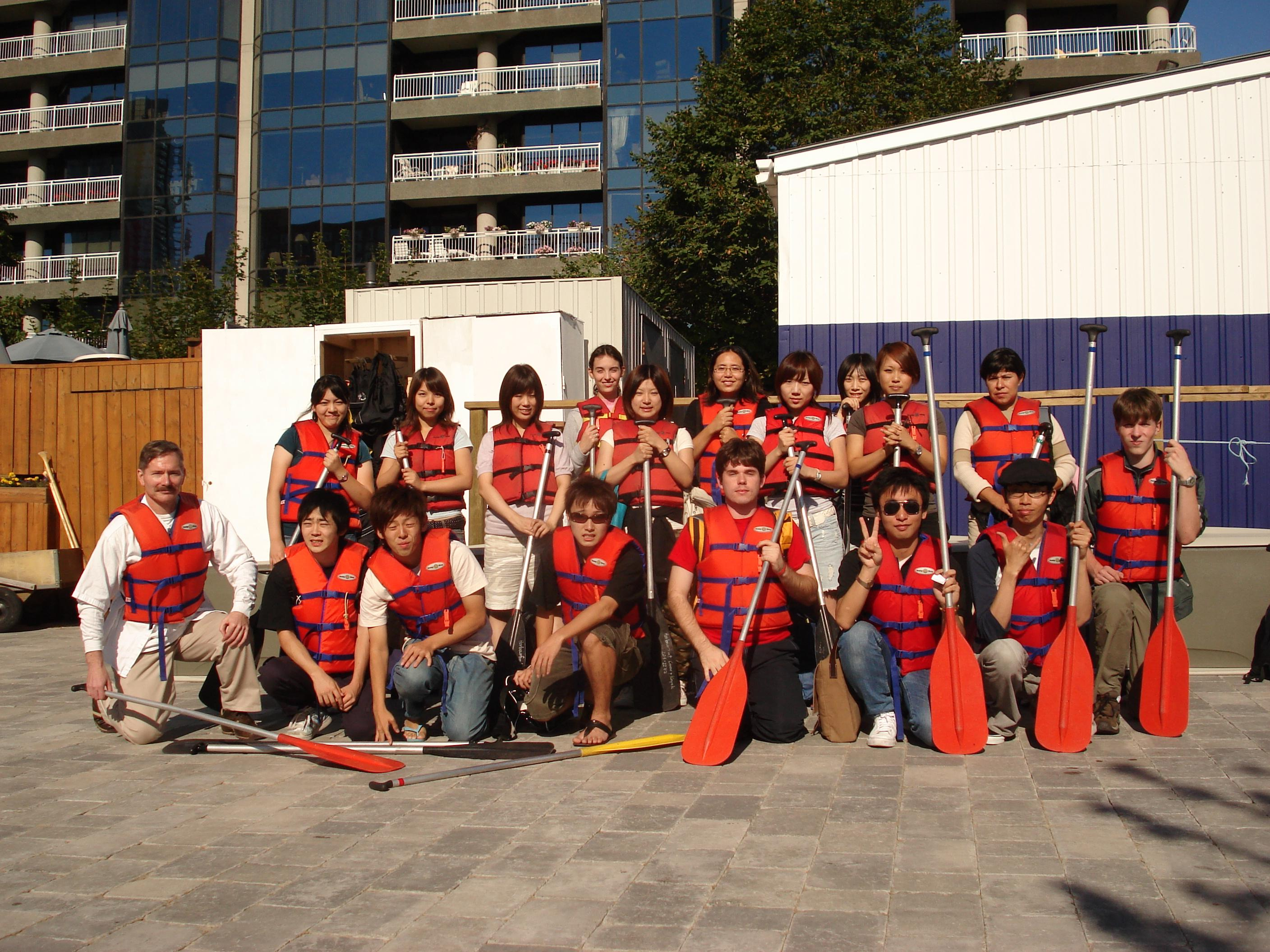 Picture of 2006 Canoe Trip, Ross with International students