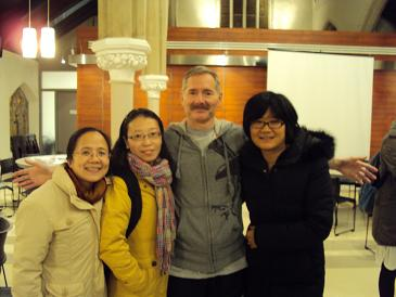 Picture of Ross with three U Toronto Medical Phd Exchange Professors from China