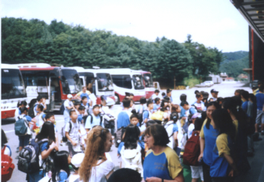 Pictures ESL in Canada 2003 Korea Daewoo Premium English Summer Camp English students arriving