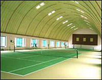 pictures of indoor tennis courts