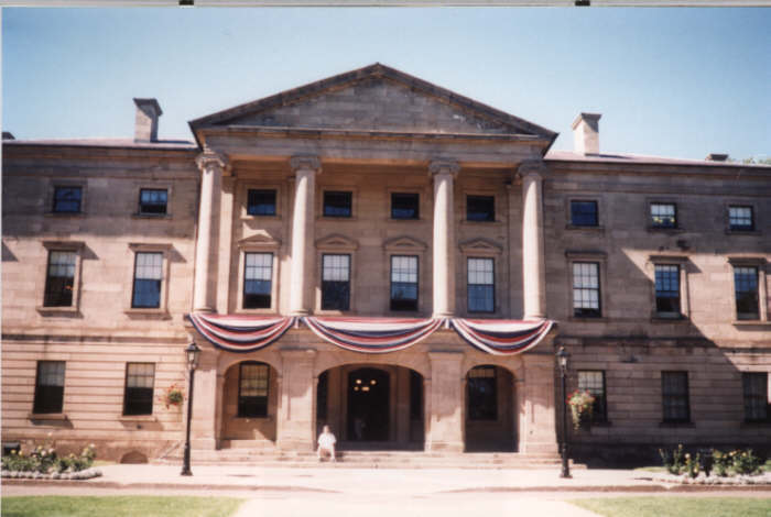 picture of the Confederation Building in Charlottetown, Prince Edward Island, Canada